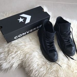 Converse Chuck Taylor black monochrome hi tops